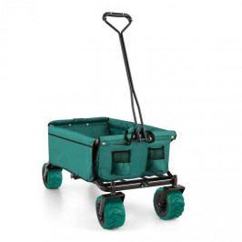 Waldbeck The Green, ruční vozík, skládací, 70 kg, 90 l, kola Ø 10 cm, zelený
