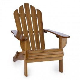 Blumfeldt Vermont, zahradní židle, adirondack, 73 x 88 x 94 cm, sklopitelná, hnědá