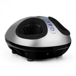 KLARFIT Feetmaster, stříbrný, masážní přístroj na nohy, funkce ohřívání, 3 masážní programy