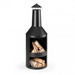 Blumfeldt Westeros, zahradní krb, zahradní kamna, na dřevo, Ø 45 cm, ocelový plech, černý