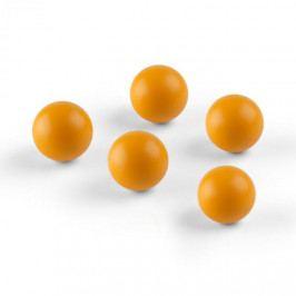 OneConcept Ballyhoo, náhradní míčky, 5 soft míčků, polyuretan, oranžové
