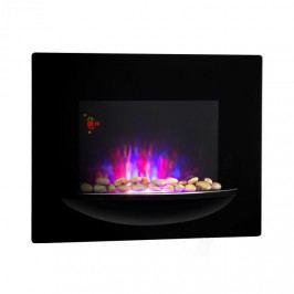 Klarstein Feuerschale, elektrický nástěnný kotel, 1800 W, iluze plamenů, dekorativní kameny, černá