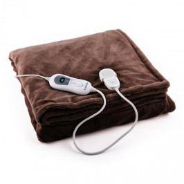 Klarstein Sherlock XXL výhřevná deka 120 W, pratelná, 200x180 cm, mikroplyš, hnědá barva