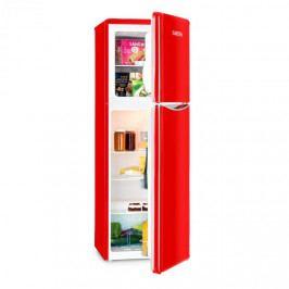 Klarstein Monroe XL Red kombinovaná chladnička s mrazničkou, 97/39 l, a +, retrolook, červená barva