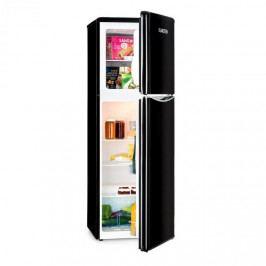 Klarstein Monroe XL Black, kombinovaná chladnička, mrazák, 97/39 l, A+, retro design, černá