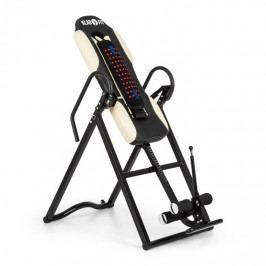 KLARFIT Ease Delux, inverzní lavice, gravitační posilovací lavice, do 136 kg, 1,54–1,98 m, béžová