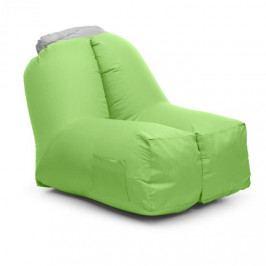 Blumfeldt Airchair, nafukovací křeslo, 80 x 80 x 100 cm, batoh, pratelné, polyester, zelené