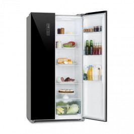 Klarstein Grand Host L, kombinace chladničky s mrazničkou, prosklené dveře, černá