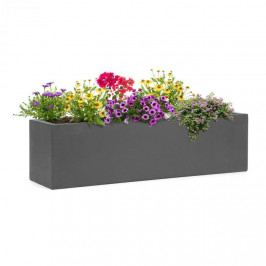 Blumfeldt Solidflor, květináč, 75 x 20 x 20 cm, sklolaminát, do interiéru i exteriéru, tmavě šedý