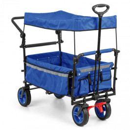 Waldbeck Easy Rider, tahací vozík se stříškou, do 70 kg, teleskopická tyč, modrý