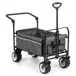 Waldbeck Easy Rider, tahací vozík, do 70 kg, teleskopická tyč, sklopný, šedý
