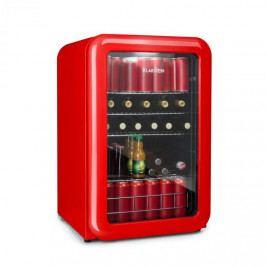 Klarstein PopLife, chladnička na nápoje, chladnička, 115 litrů, 0 - 10 °C, retro design, červená