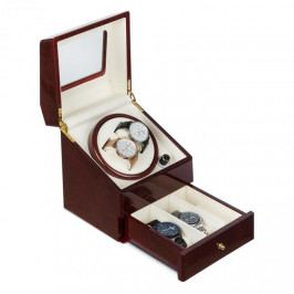 Klarstein Geneva, pohyblivý stojan na hodinky, 2 hodinek, 4 režimy, zásuvka, palisandrový vzhled