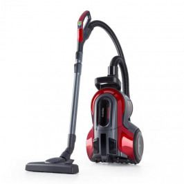 Klarstein Clean King Ergo, cyklónový vysavač, 800 W, bezsáčkový, HEPA13, třída energetické účinnosti A, šedo/červený
