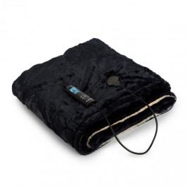 Klarstein Dr. Watson SuperSoft, výhřevná deka, 120 W, 180 x 130 cm, chlupatý plyš, béžová / tmavěmodrá