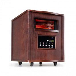 Klarstein Heatbox, infračervený ohřívač, 1500 W, 12-hod. časovač, dálkové ovládání, tmavý ořech
