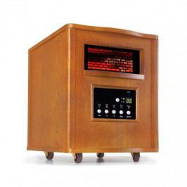 Klarstein Heatbox, infračervený ohřívač, 1500 W, 12-hod. časovač, dálkové ovládání, dub