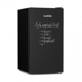Klarstein Miro, chladnička, popsatelná přední strana, 91 l, A+, chladicí složka na zeleninu, černá