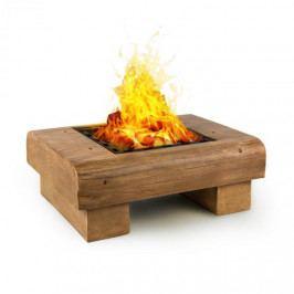 Blumfeldt Lombardia, ohniště, 40 x 40 cm, BBQ jáma, ochrana před jiskrami, MagicMag, dřevěný vzhled
