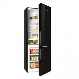 Klarstein Luminance Frost, chladnička s mrazničkou, 299/123 l, A+, skleněná předníí část, černá