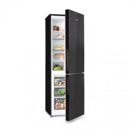 Klarstein Luminance Frost, chladnička, 300 l, A+, 4 skleněné police, chladící prostor na zeleninu, černá