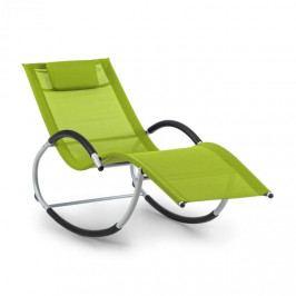 Blumfeldt Westwood, houpací lehátko, ergonomické, hliníkový rám, zelené