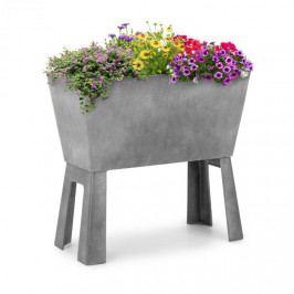 Blumfeldt Mammutgrow Flex, vyvýšený záhon, 75 x 70 x 35 cm, UV ochrana a ochrana před mrazem, šedý