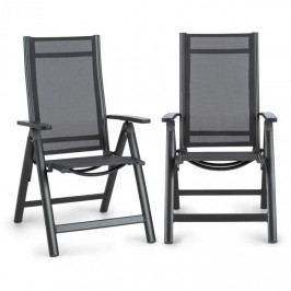 Blumfeldt Cádiz, skládací židle, sada 2 kusů, 59,5 x 107 x 68 cm, comfortmesh, antracitová