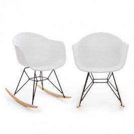 Blumfeldt Skandia, houpací židle, sada 2 kusů, UV odolnost, max. nosnost: 150 kg, bílá