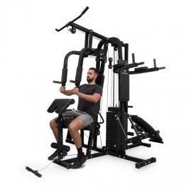 KLARFIT Ultimate Gym 9000, 7 stanic, do 150 kg, QR ocel, černá