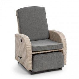 Blumfeldt Comfort Siesta Luxury, křeslo, nastavitelné opěradlo, část na nohy, světlešedá