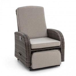 Blumfeldt Comfort Siesta Luxury, křeslo, nastavitelná zádová opěrka, tmavošedé