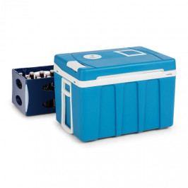 Klarstein BeerPacker, termoelektrický chladící box s funkcí udržování tepla, 50 L, A+++, AC/DC, vozík. modrý