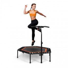 """KLARFIT Jumpanatic Pro, fitness trampolína, 50 """"/ 127 cm Ø, tyč s rukojetí, oranžová"""