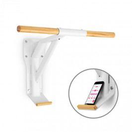Capital Sports Light, tyč na zdvihy, ocel, dřevo, držák na smartphone, bílá