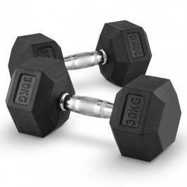 Capital Sports Hexbell 30 Dumbbell, pár jednoručních činek, 30 kg