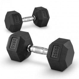 Capital Sports Hexbell 25 Dumbbell, pár jednoručních činek, 25 kg