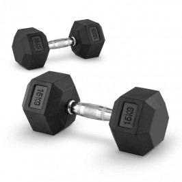 Capital Sports Hexbell 15, 15kg, dvojice krátké ruční činek (Dumbbell)