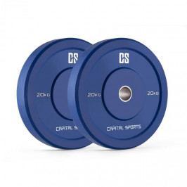 Capital Sports Nipton Bumper Plates, modré, 20 kg, pár kotoučových závaží, tvrdá guma