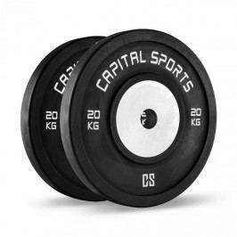 Capital Sports Inval, soutěžní bumper kotouče, 50 mm, hliníkové jádro, 2x 20 kg