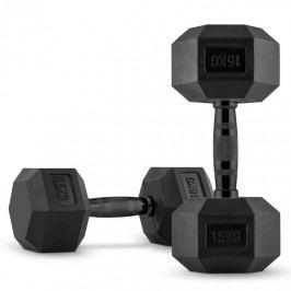 Capital Sports Hexbell Dumbbell, jednoruční činka, pár 2 x 15 kg