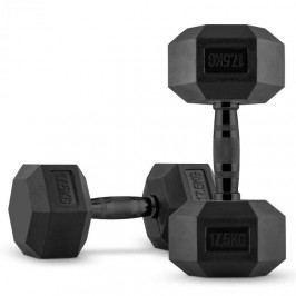Capital Sports Hexbell Dumbbell, jednoruční činka, pár 2 x 17,5 kg