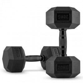 Capital Sports Hexbell Dumbbell, jednoruční činka, pár 2 x 20 kg