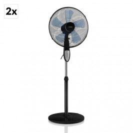 Klarstein Summerjam, 2 x stojanový ventilátor, sada dvou ventilátorů, 50 W, 3 stupně, černá barva