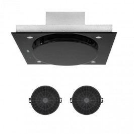 Klarstein Secret Service, odsavač par, vnitřní cirkulace vzduchu, 110 cm, 800 m³/h, filtr s aktivním uhlím, černá