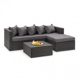 Blumfeldt Theia Lounge set zahradní sedací souprava, černá / tmavě šedá
