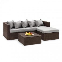 Blumfeldt Theia Lounge set zahradní sedací souprava, hnědá / světle šedá