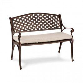 Blumfeldt Pozzilli AN, zahradní lavička & podložka na sezení, starožitná měď/béžová