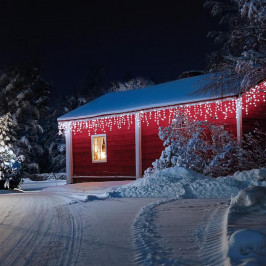 Blumfeldt Dreamhouse, studená bílá, 24 m, 480 LED, vánoční osvětlení, padající sníh