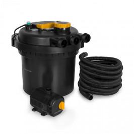 Waldbeck Aquaklar, set tlakového filtru do jezírka, 11W UV-C čistič, 35W pumpa, 5 m hadice